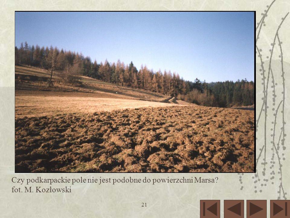Czy podkarpackie pole nie jest podobne do powierzchni Marsa