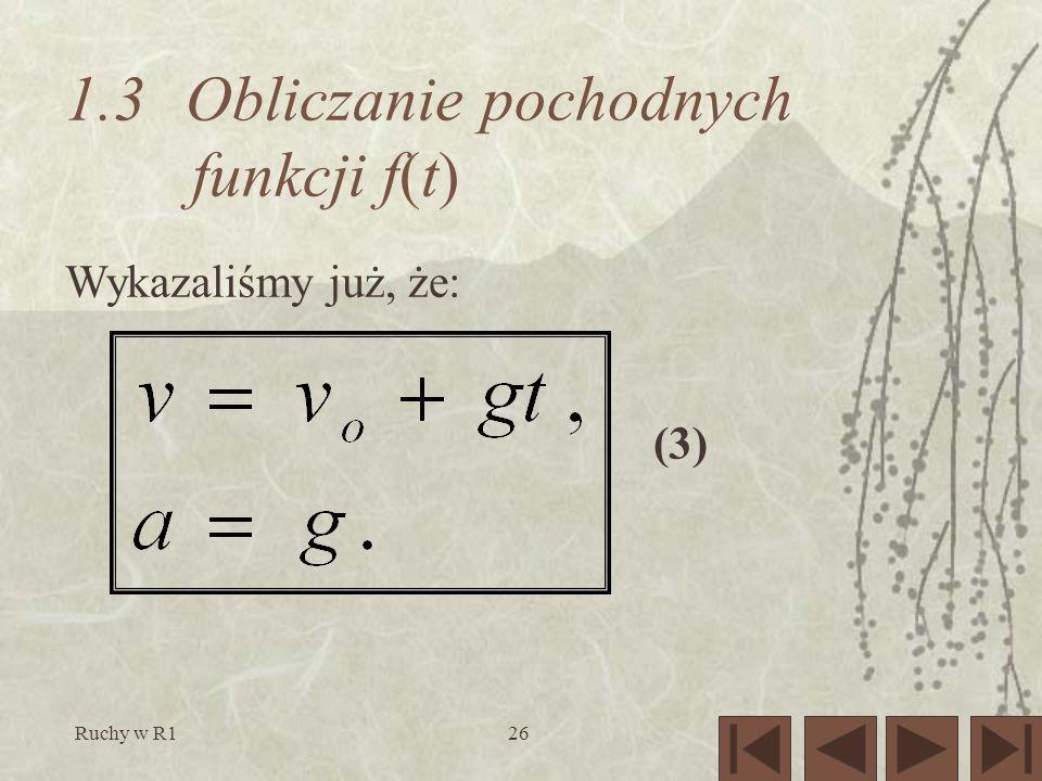 1.3 Obliczanie pochodnych funkcji f(t)
