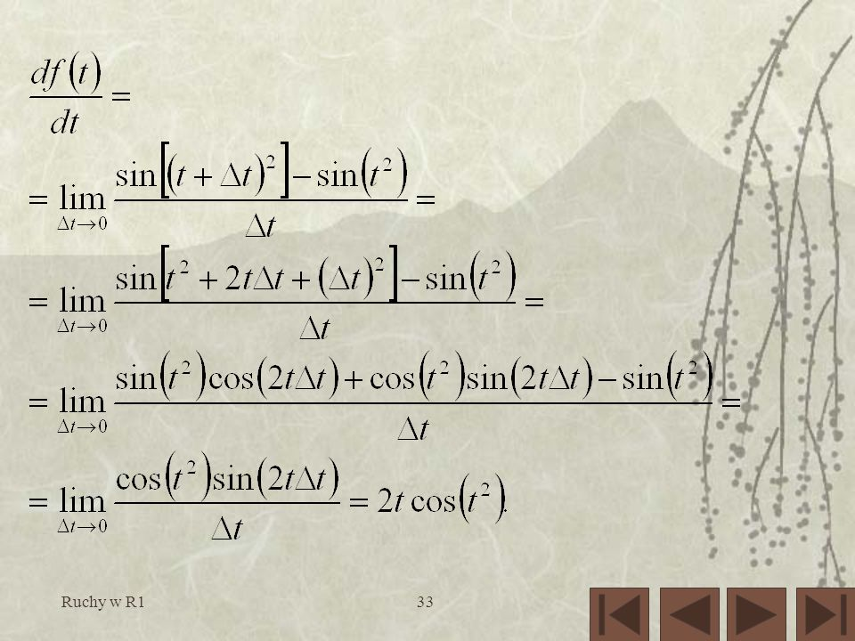 Ruchy w R1