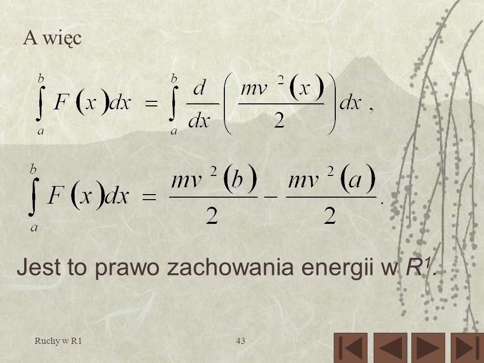 Jest to prawo zachowania energii w R1.