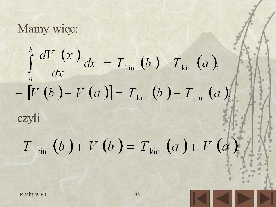 Mamy więc: czyli Ruchy w R1