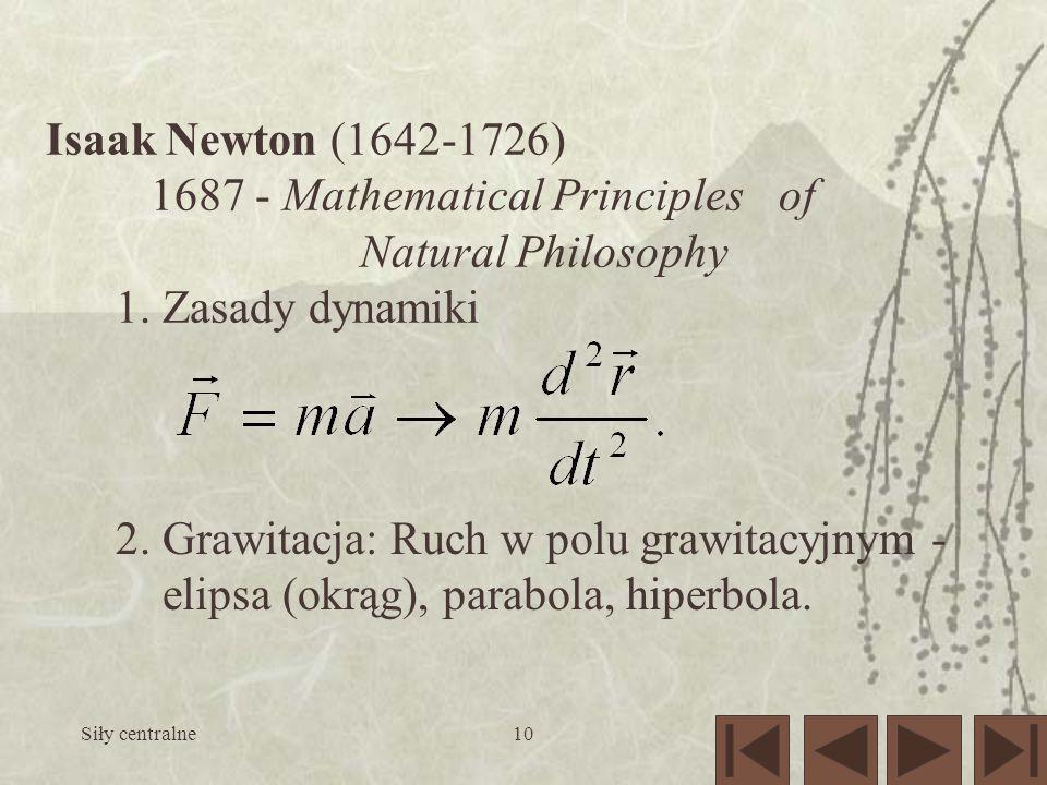 1687 - Mathematical Principles of Natural Philosophy