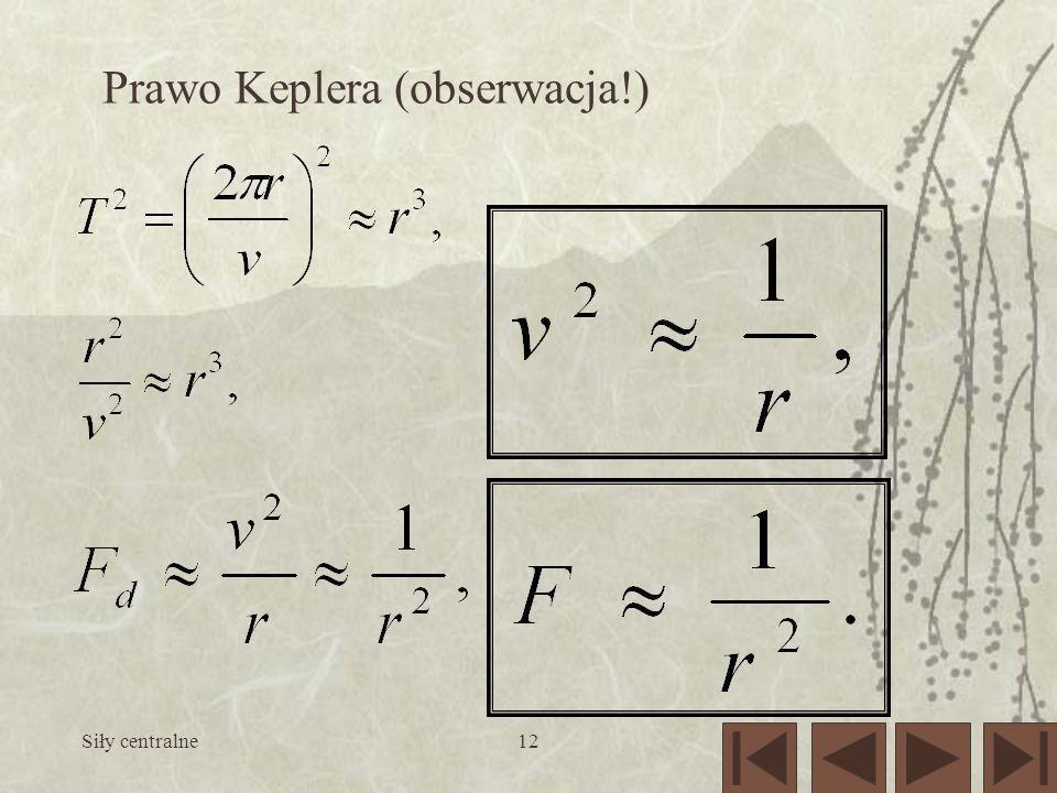 Prawo Keplera (obserwacja!)