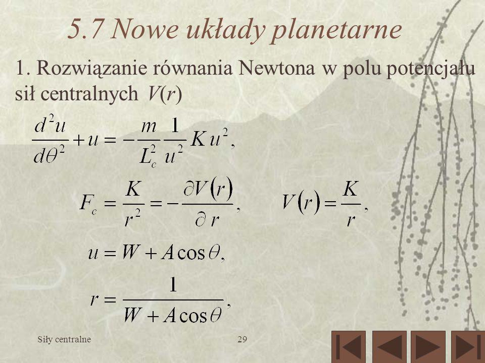 5.7 Nowe układy planetarne