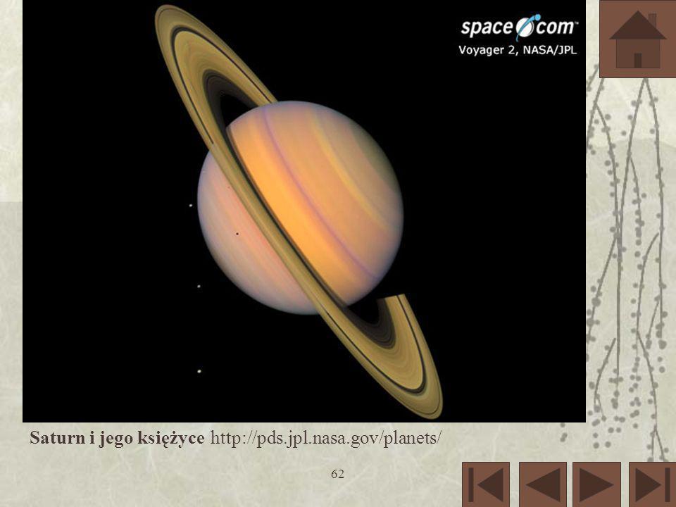 Saturn i jego księżyce http://pds.jpl.nasa.gov/planets/