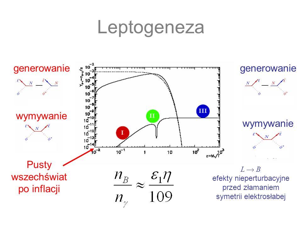 Leptogeneza generowanie wymywanie generowanie wymywanie