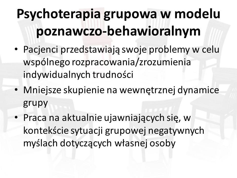 Psychoterapia grupowa w modelu poznawczo-behawioralnym