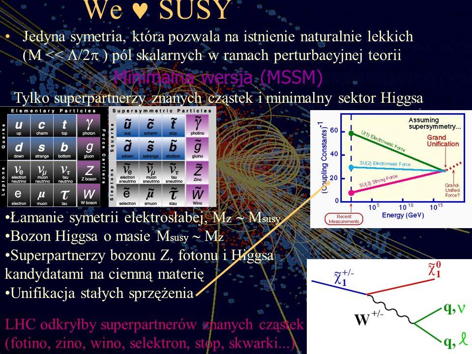We  SUSY Minimalna wersja (MSSM)