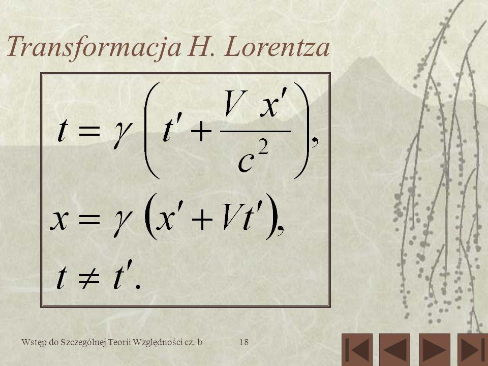 Transformacja H. Lorentza