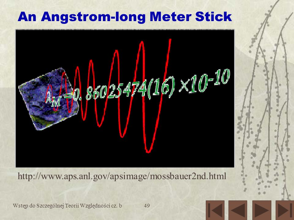 An Angstrom-long Meter Stick