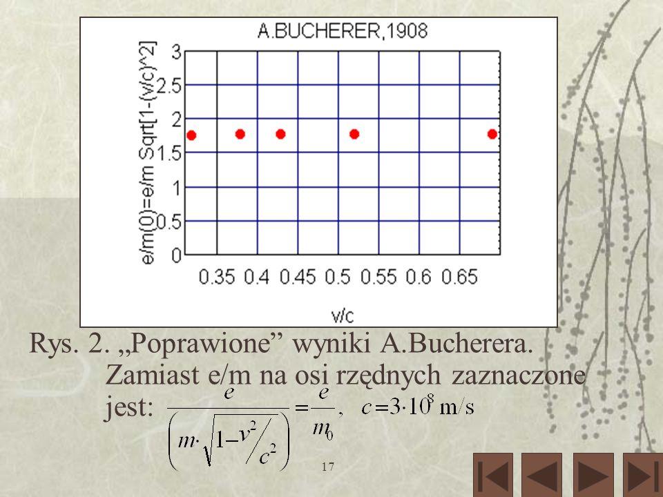 """Rys. 2. """"Poprawione wyniki A. Bucherera"""