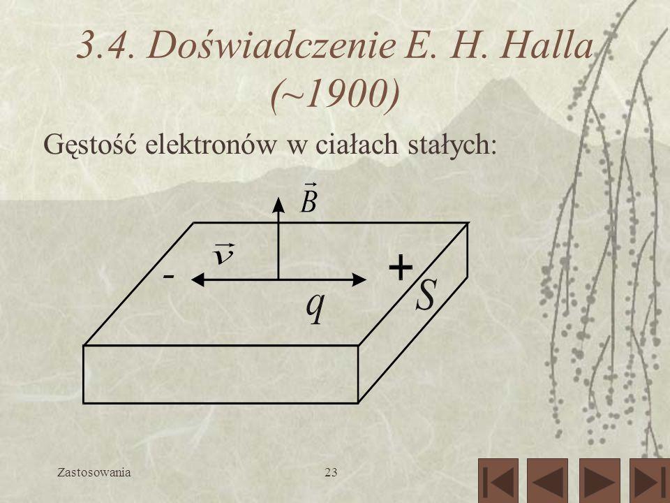 3.4. Doświadczenie E. H. Halla (~1900)