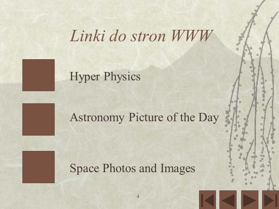 Linki do stron WWW Hyper Physics Astronomy Picture of the Day