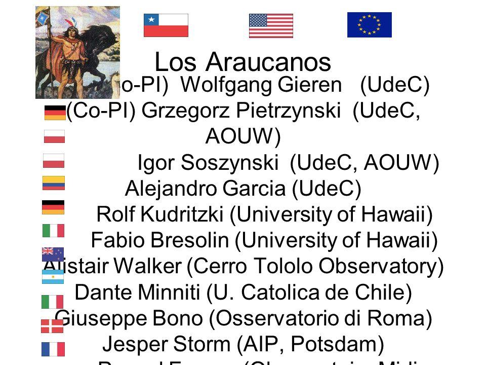 (Co-PI) Wolfgang Gieren (UdeC) (Co-PI) Grzegorz Pietrzynski (UdeC, AOUW)