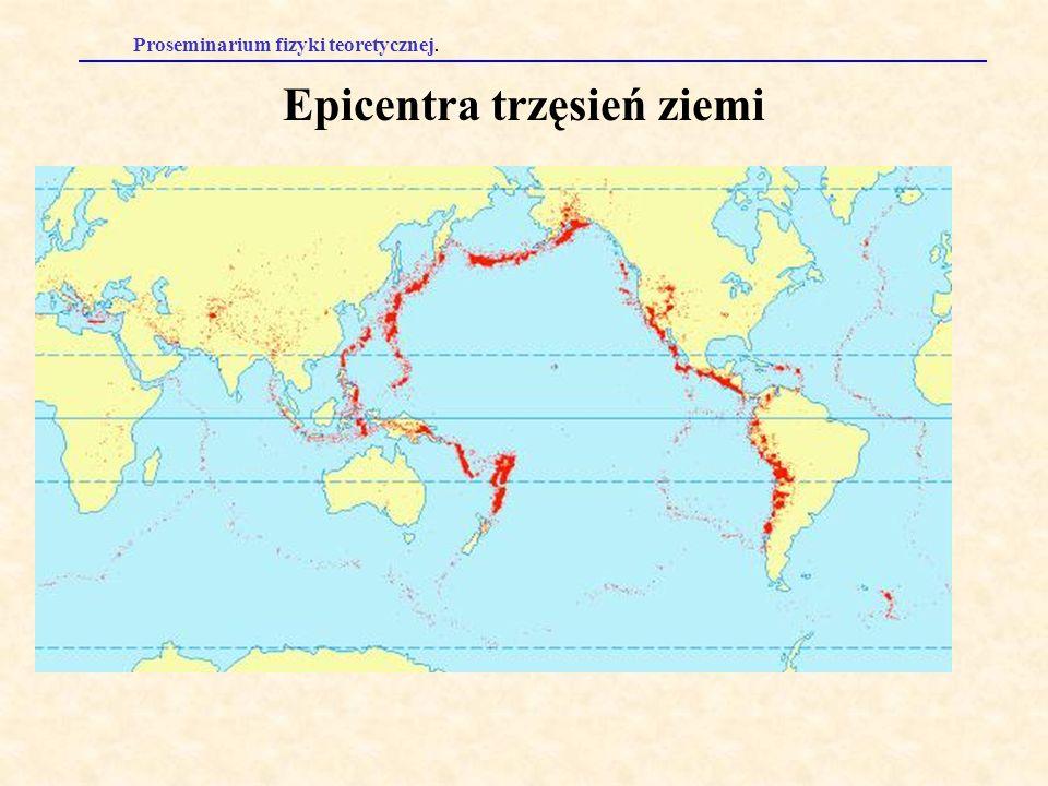 Epicentra trzęsień ziemi