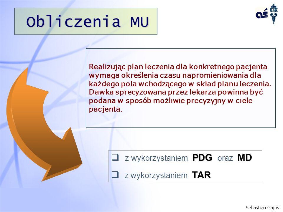 Obliczenia MU z wykorzystaniem PDG oraz MD z wykorzystaniem TAR