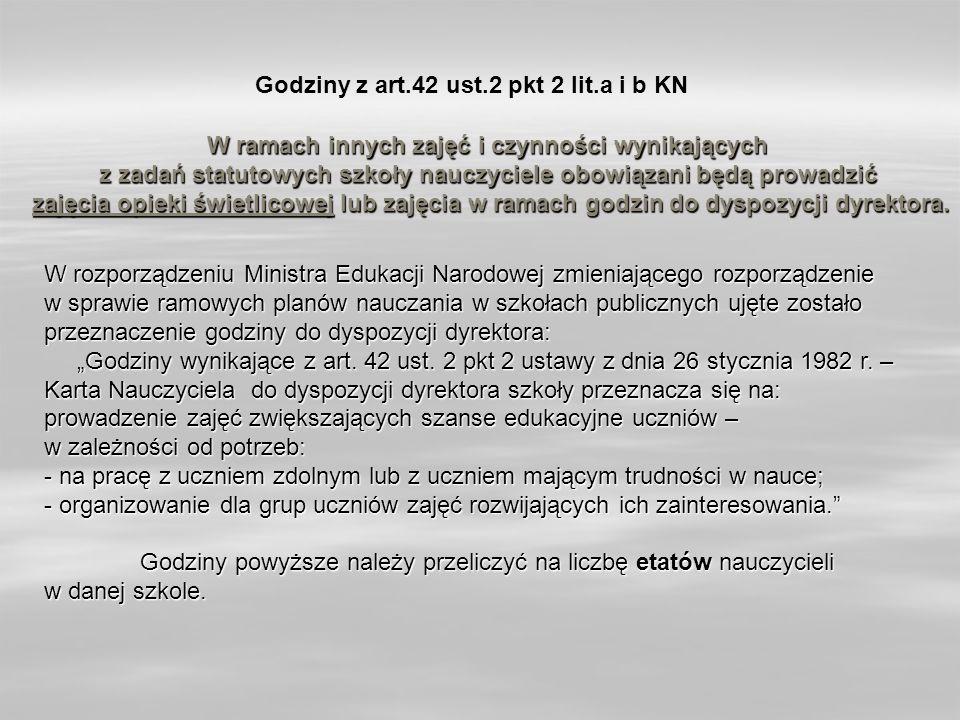 Godziny z art.42 ust.2 pkt 2 lit.a i b KN