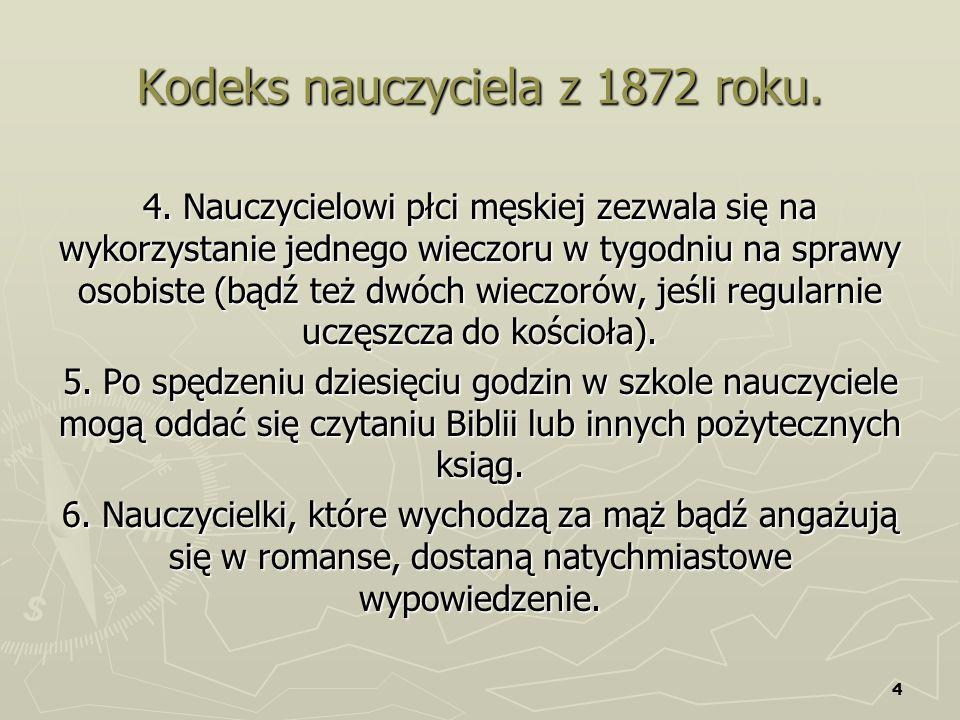 Kodeks nauczyciela z 1872 roku.
