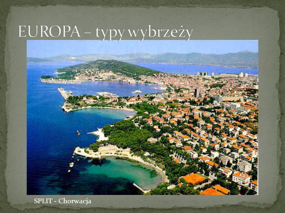 EUROPA – typy wybrzeży SPLIT - Chorwacja