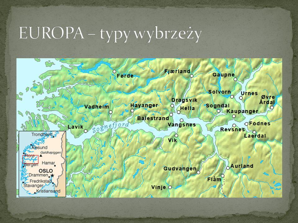 EUROPA – typy wybrzeży