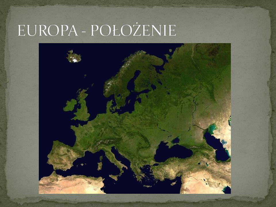 EUROPA - POŁOŻENIE