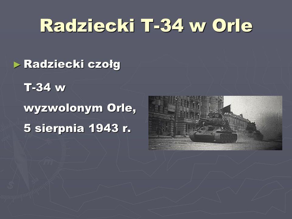 Radziecki T-34 w Orle Radziecki czołg