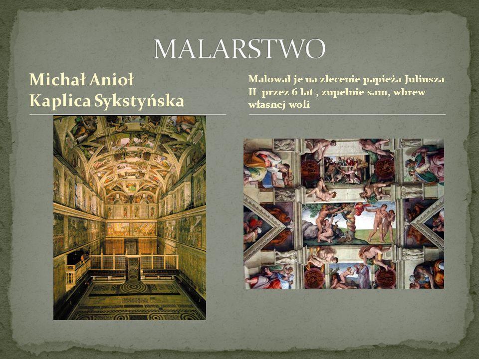 MALARSTWO Michał Anioł Kaplica Sykstyńska