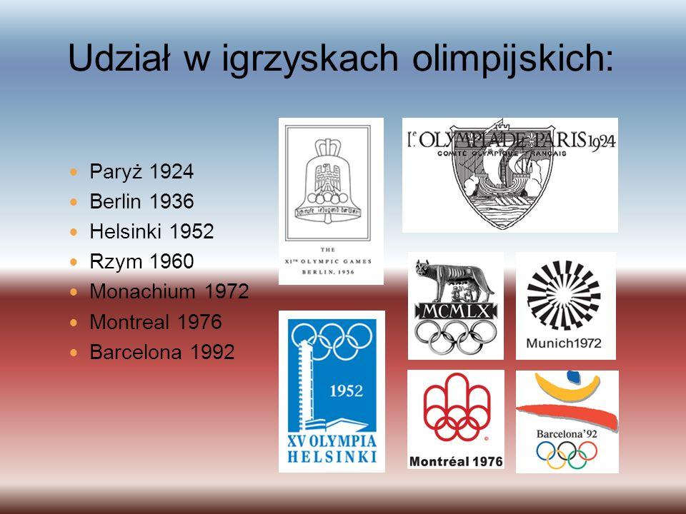 Udział w igrzyskach olimpijskich: