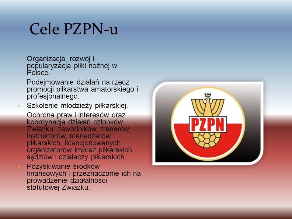 Cele PZPN-u Organizacja, rozwój i popularyzacja piłki nożnej w Polsce.