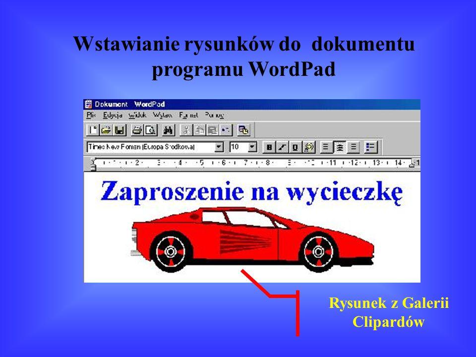 Wstawianie rysunków do dokumentu programu WordPad