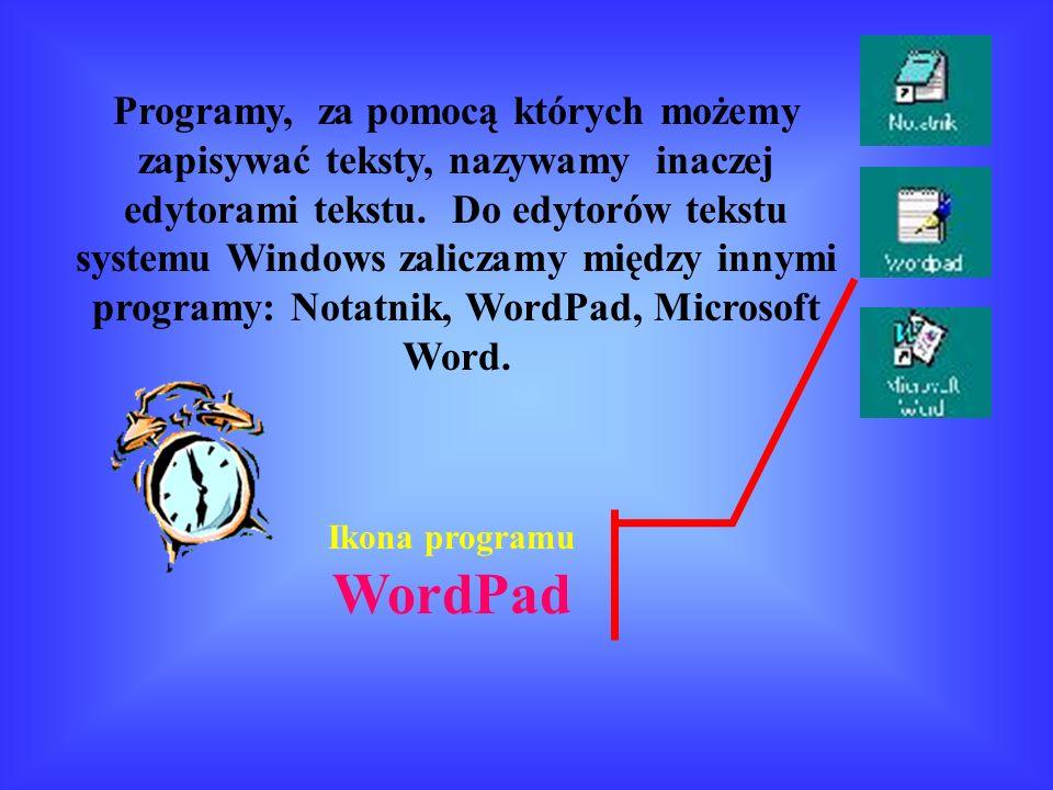 Ikona programu WordPad