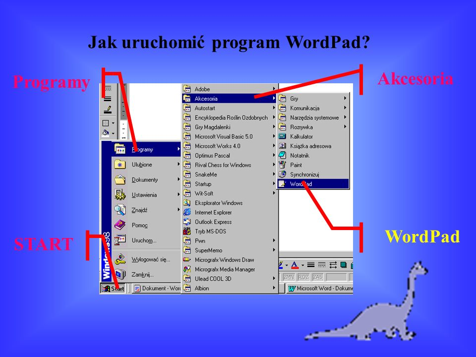 Jak uruchomić program WordPad