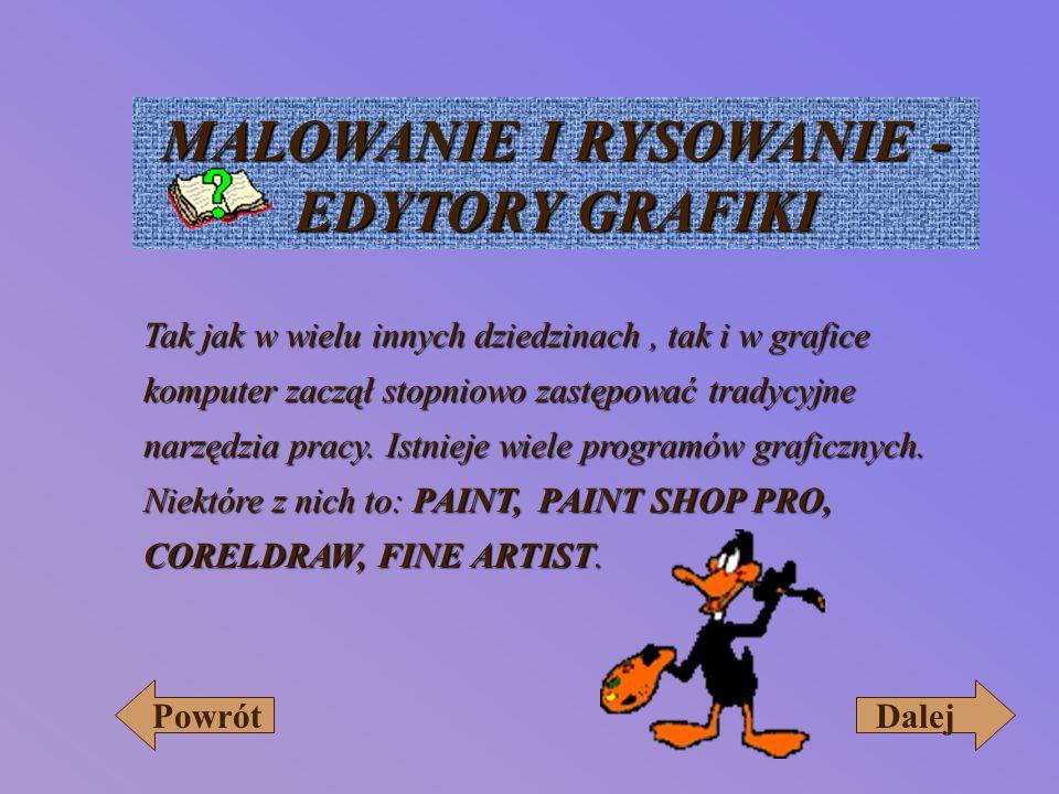 MALOWANIE I RYSOWANIE - EDYTORY GRAFIKI