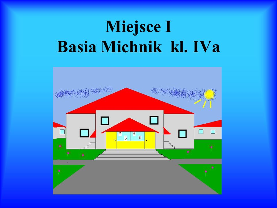 Miejsce I Basia Michnik kl. IVa