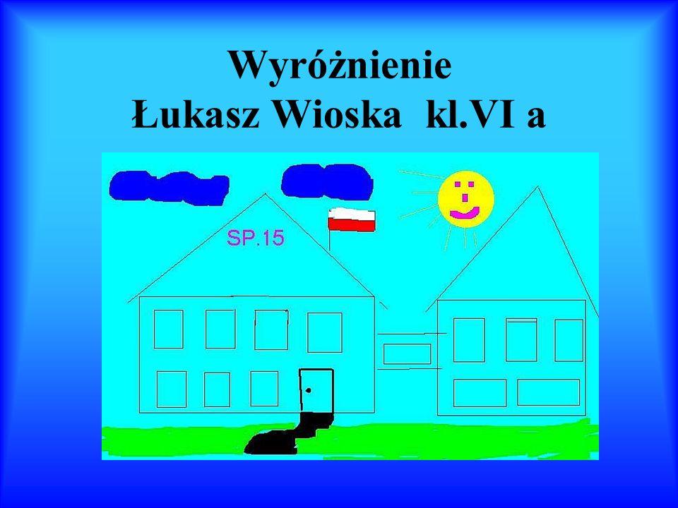 Wyróżnienie Łukasz Wioska kl.VI a