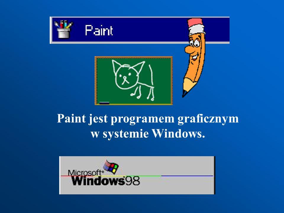 Paint jest programem graficznym w systemie Windows.
