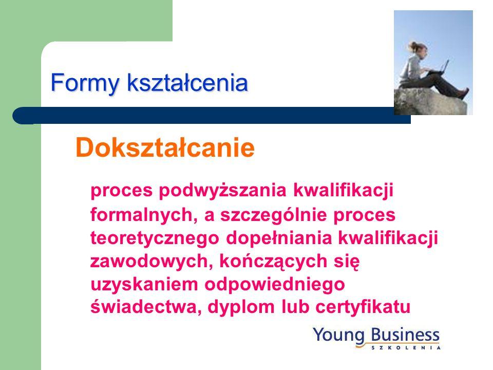 Formy kształcenia Dokształcanie.