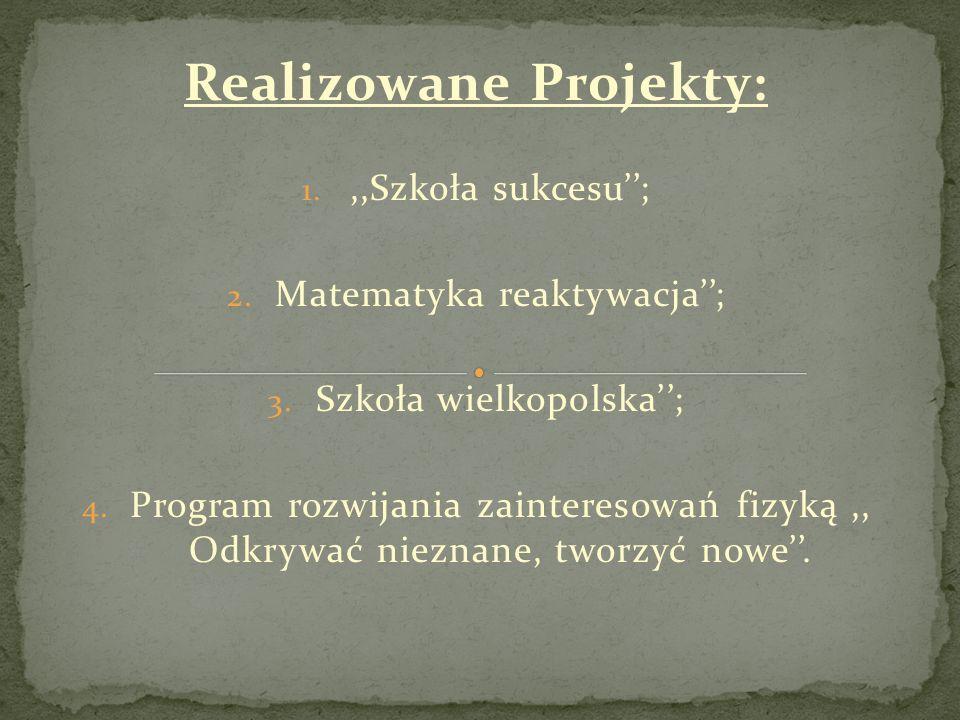 Realizowane Projekty: