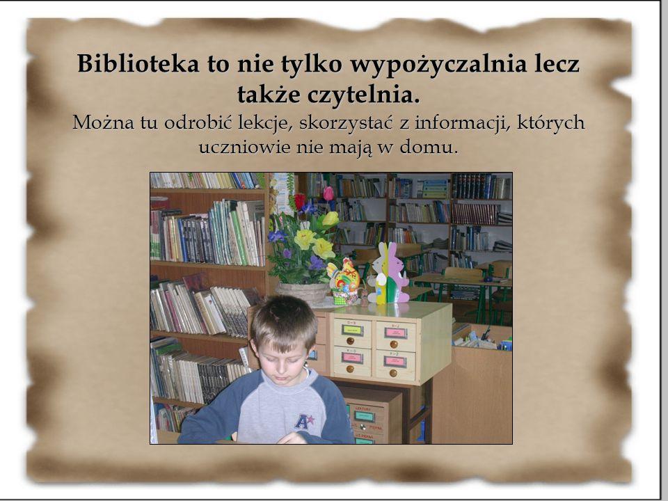 Biblioteka to nie tylko wypożyczalnia lecz także czytelnia