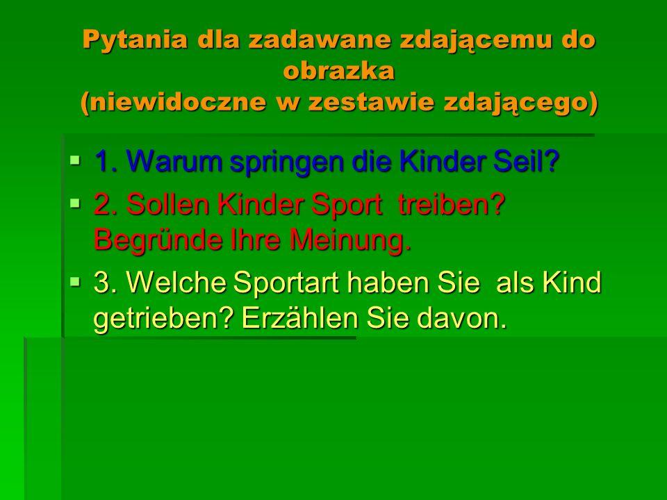 1. Warum springen die Kinder Seil