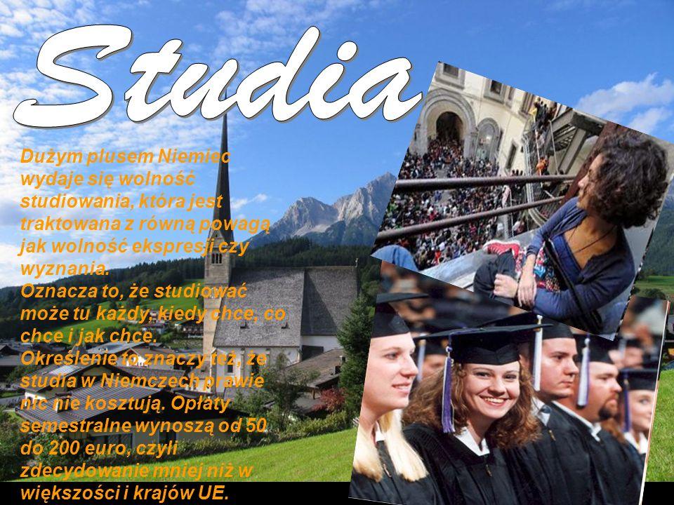 StudiaDużym plusem Niemiec wydaje się wolność studiowania, która jest traktowana z równą powagą jak wolność ekspresji czy wyznania.