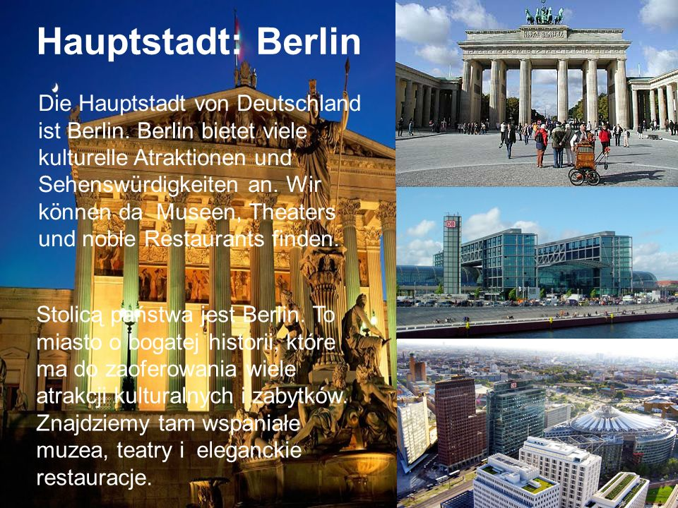 Brandenburger Tor Hauptstadt: Berlin.