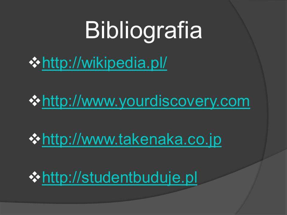 Bibliografia http://wikipedia.pl/ http://www.yourdiscovery.com