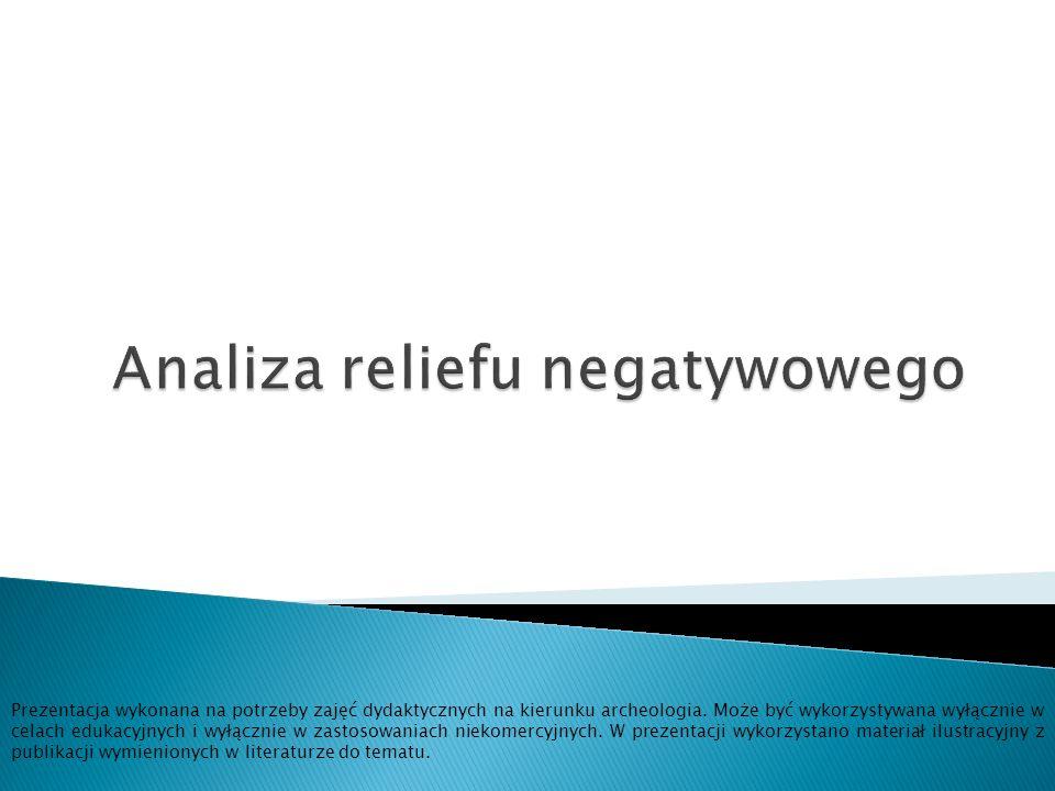 Analiza reliefu negatywowego