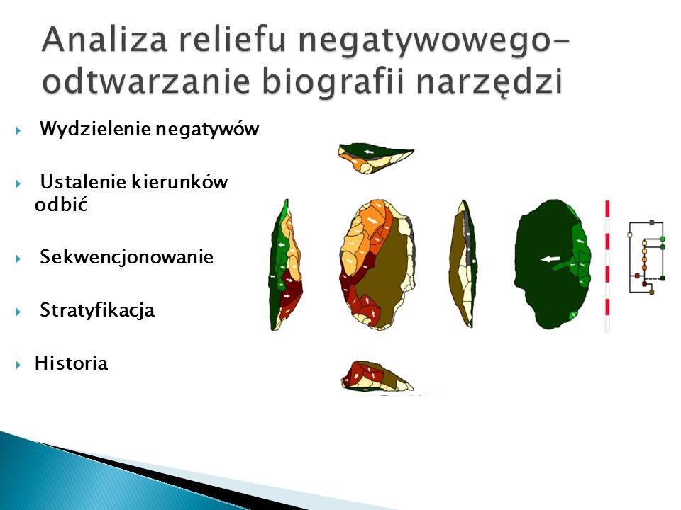 Analiza reliefu negatywowego- odtwarzanie biografii narzędzi