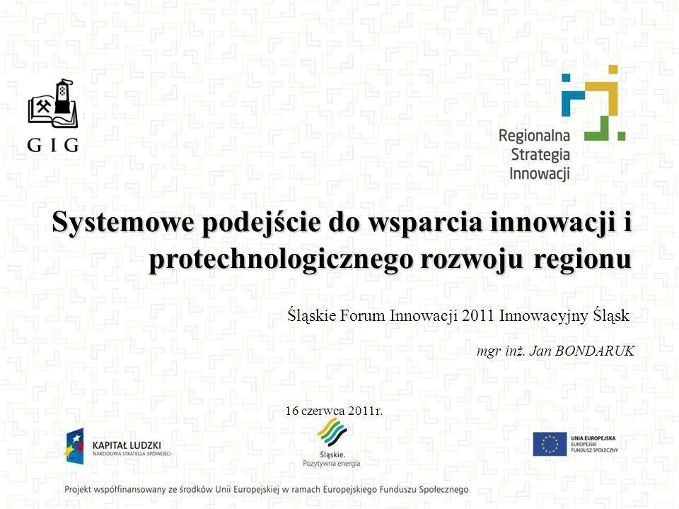 Systemowe podejście do wsparcia innowacji i protechnologicznego rozwoju regionu