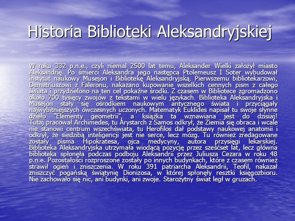 Historia Biblioteki Aleksandryjskiej
