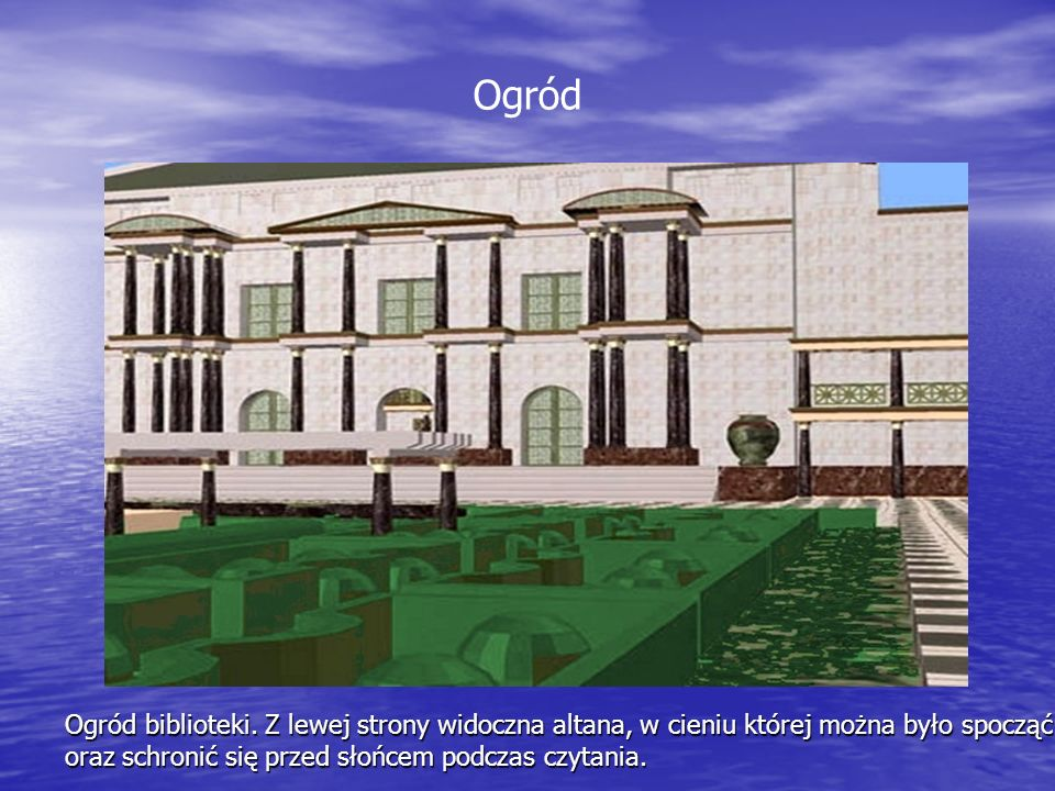 OgródOgród biblioteki.