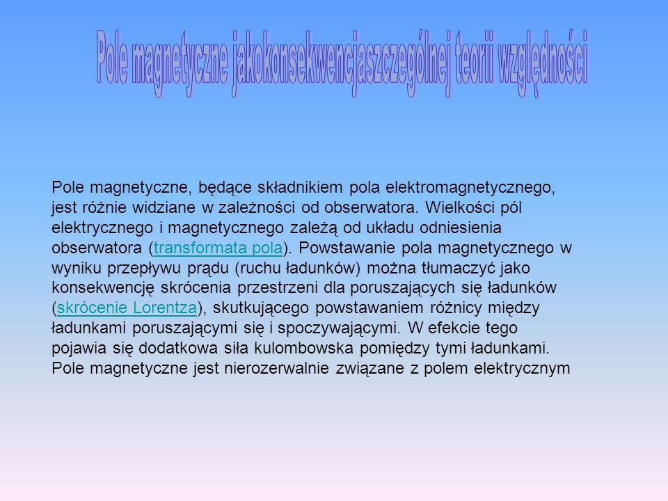 Pole magnetyczne jakokonsekwencjaszczególnej teorii względności