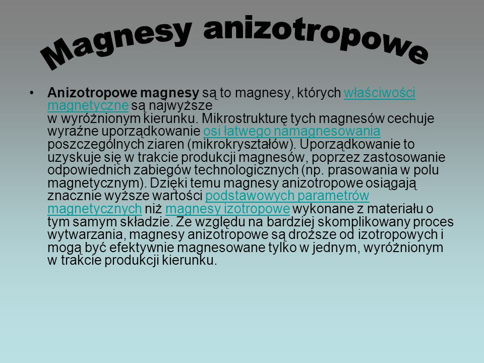Magnesy anizotropowe